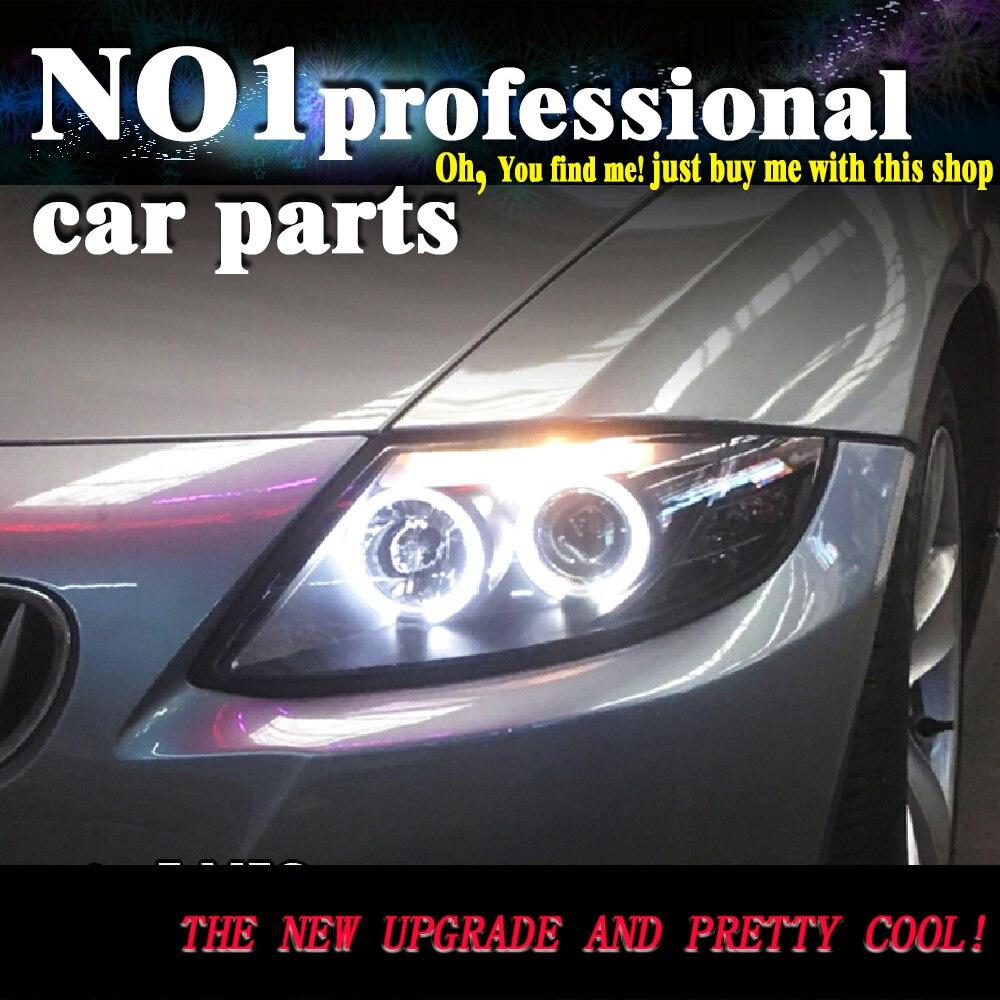 OUMIAO voiture style pour BMW Z4 E85 LED phares 2003-2008 pour Z4 phare LED angle yeux drl H7 hid bi-xénon lentille feux de croisement