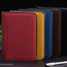 Notebook Reisenden Leder Tagebuch Memos Schreiben Pads Ordner Solar energie Rechner karte halter Notizblock Business planer A5 A6 B5