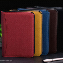 Notebook Traveler Leather Diary Memos Writing Pads Folder Solar energy Calculator card holder Notepad Business planner A5 A6 B5