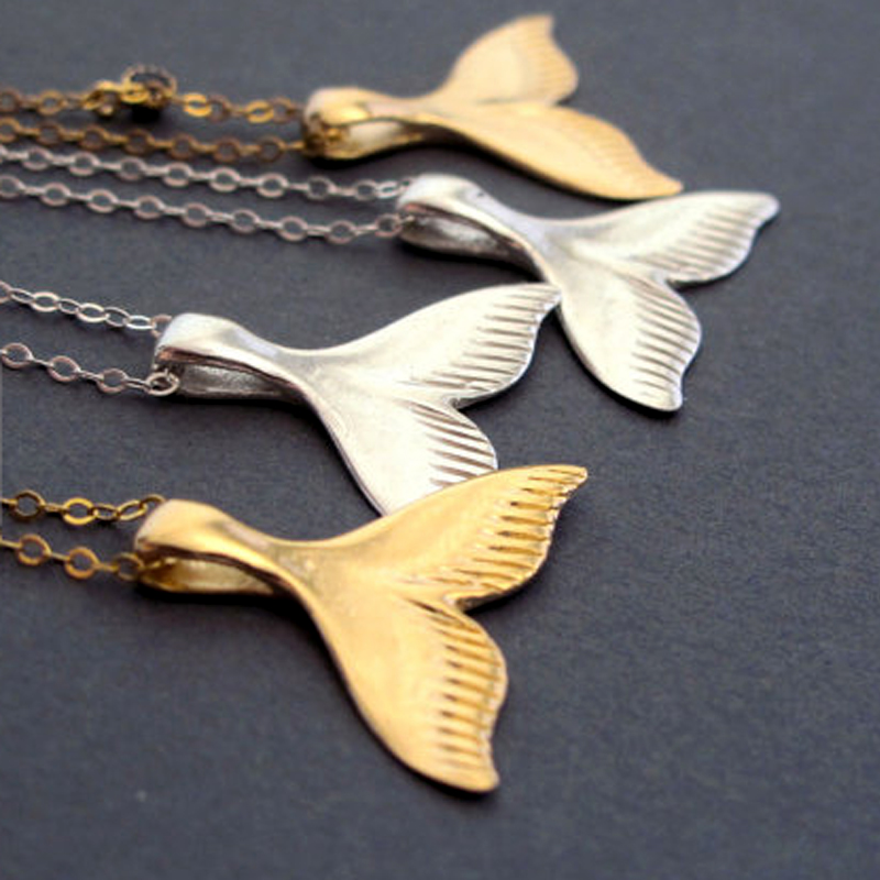 5pcslot gold color dolphin tail necklace nautical pendant ocean 5pcslot gold color dolphin tail necklace nautical pendant ocean jewelry small whale tail necklaces wholesale 2017 in pendant necklaces from jewelry aloadofball Images