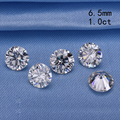 Teste positivo branco EF 6.5mm moissanites pedra 1.0ct rodada brilliant cut loose beads para anéis de noivado preço de varejo
