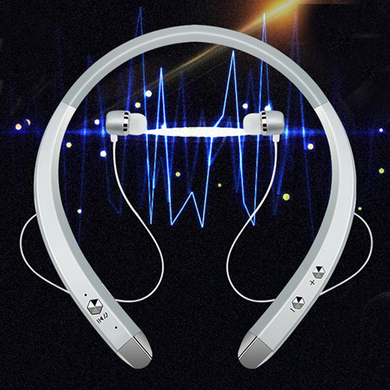 DOITOP Smart Bluetooth 4.0 Neckband Headphone Wireless BT Headset Sports HIFI Stereo Music Hands-free Voice Control DSP Earphone hifi wireless stereo bluetooth headphone bluetooth 4 1 sport earphone headset hands free mic car drive headset