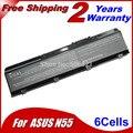 Jigu batería del ordenador portátil para asus a32-n55 n45 n45e n45s n45f n45j N56VB Mystic Edición N45JC N45SJ N45SF N45SN N45SV N55 N55E N55S