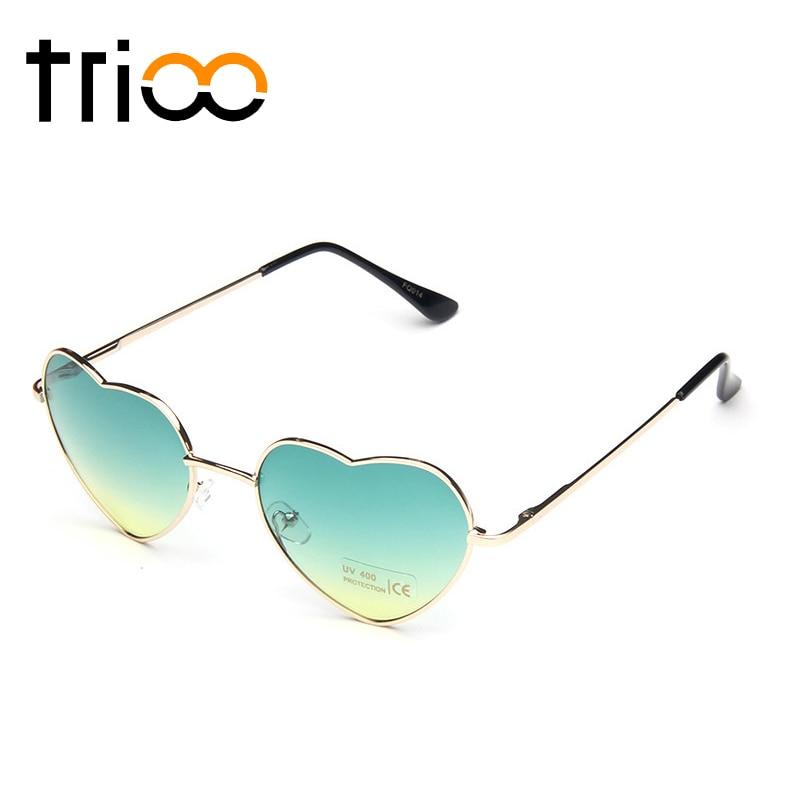 Donne De Piccole 002 Occhiali Cornice Trioo Gradiente Di Signore Protezione Sol Sole 001 A 003 Oro Oculos Rosso 004 Cuore Uv400 Da Forma Trend c1afWO1