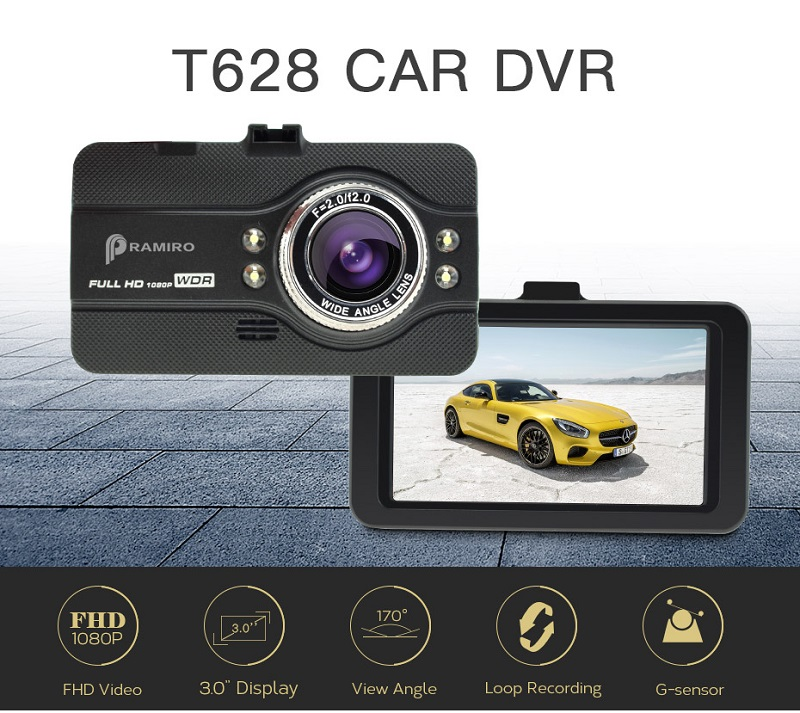 T628 Car DVR Car Camera 4.0 Inch Full HD 1080P Video 170 Degree Dash Camera DVR G-sensor Video Recorder Night Vision