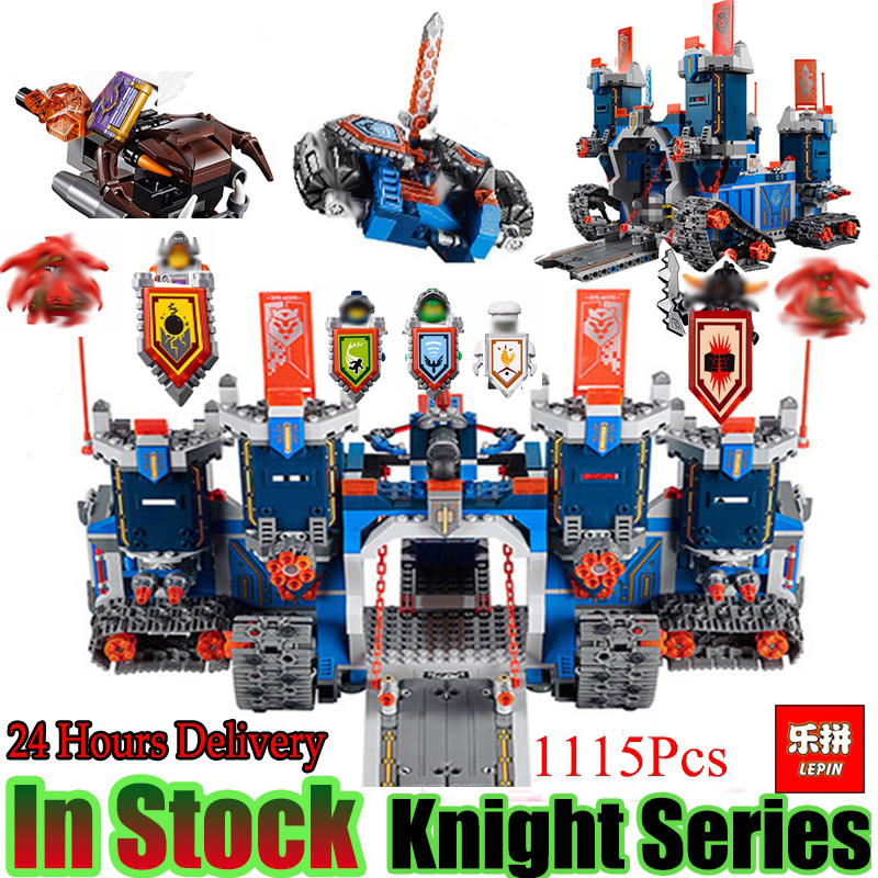 Lepin 14006 Nexoe 1115Pcs The Fortrex Nexus Knights Building Blocks Bricks kit Toys Set Castle Weapon Clay Aaron Fox Axl 70317 in stock lepin 14036 785pcs nexoe the stone colossus of ultimate nexus destruction knights building blocks bricks toys for kids