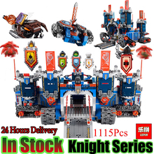 Lepin 14006 Nexoe 1115Pcs The Fortrex Nexus Knights Building Blocks Bricks kit Toys Set Castle Weapon Clay Aaron Fox Axl 70317