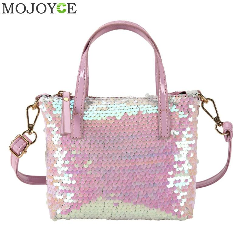Women Sequined Messenger Bag Quality Leather Womens Flap Bag Chain Strap Female Shoulder Bag Lay Crossbody Bags Party Handbag