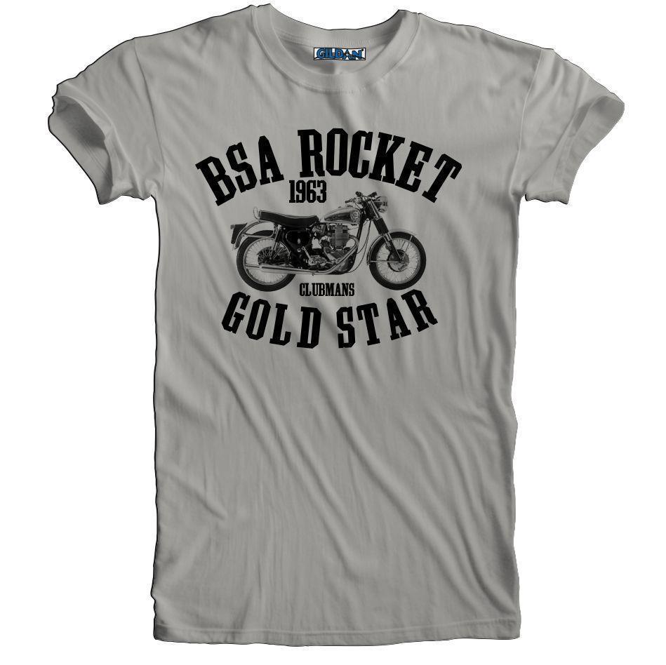 BSA 650 Lightning T Shirt Retro Vintage Motorcycle Biker Cafe Racer Tee S-5XL