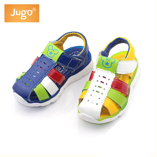 NEW summer children's pu leather sandals kids footwear shoes leather beach sandals for boys size:21-25  free shipping
