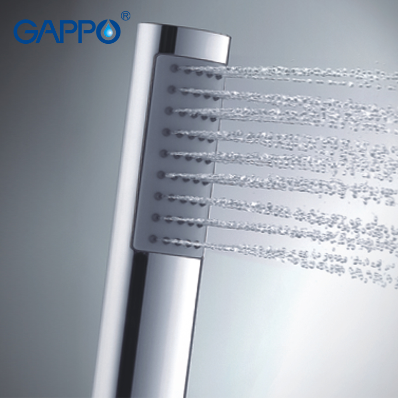 Gappo 1Pc High Quality Long Shower Heads hand shower heads bathroom fixture ABS in chrome Plated water saving shower heads GA02