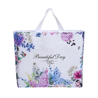 50 Pcs fashion Flower Plastic Gift Bags With Handles Plastic Packaging For Mini Jewelry Christmas Gift Pouches Shopping Bag Dec