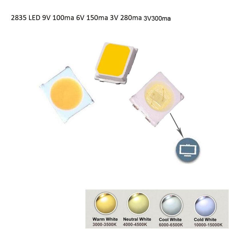 DIY SMD LED Diode 2835/3528 1W 3V 300ma 6V 150ma 9V100ma 100-120lm Fast Delivery Via Aliexpress Air Mail