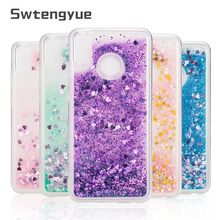For Huawei Honor 10 lite case Dynamic Liquid Glitter Bling Soft TPU Phone cover Coque capa
