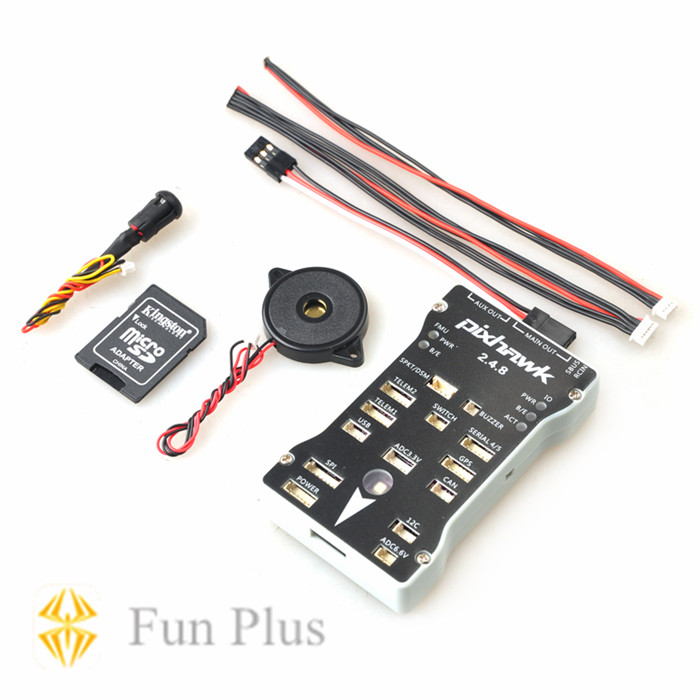 Tarot Pixhawk PX4 Autopilot PIX 2.4.8 32 Bit Flight Controller with Safety Switch and Buzzer new pixracer r14 autopilot xracer px4 flight control mini pixracer r14 autopilot ppm sbus dsm2