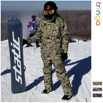 Ski Suit Men Winter New Outdoor Windproof Waterproof Thermal Male Snow Pants sets Skiing And Snowboarding Ski Jacket Men Brands цена 2017