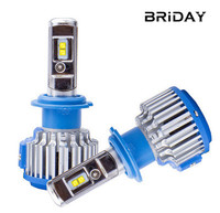 BRIDAY T1 H4 Led Car Headlights H7 LED H1 H3 H11 H8 880 9005 9006 80W