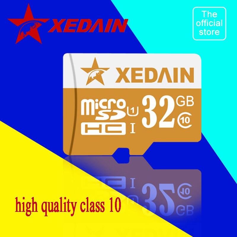 Xedain мини Micro SD карты флэш-карты памяти 16 ГБ 32 ГБ 64 ГБ карты памяти класса 10 MICROSD высокая скорость Трансмиссия для телефона Камера mp3