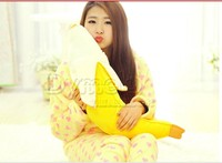 Stuffed Animal Cute Yellow Banana Plush Toy 130cm Doll Cushion Throw Pillow About 51 Inch Toy