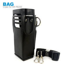 Lederen Beschermhoes Bag Case voor Motorola XIR P8200 P8208 P6500 P6200 GP328D Walkie Talkie Walkie Talkie(China)