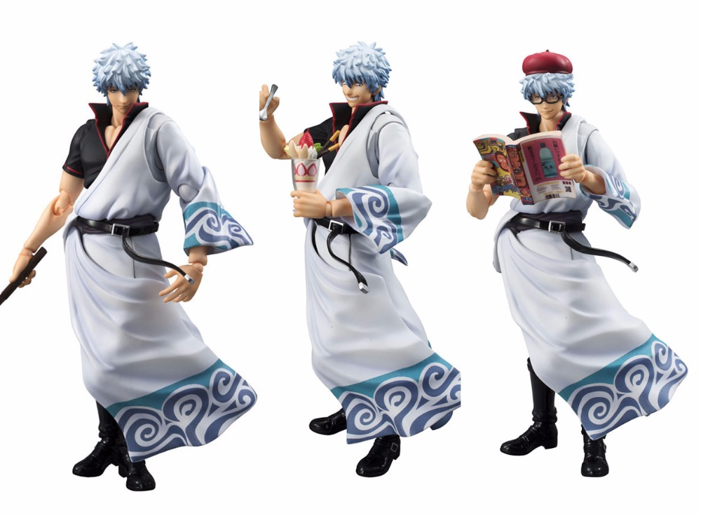 18CM Japanese anime figure VAH GINTAMA Sakata Gintoki action figure collectible model toys for boys japanese anime figure kurosaki ichigo bleach action figure collectible model toys for boys