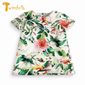 TWINSBELLA Baby Girl Summer Dresses 2017 New Arrival Princess A-Line Flower Print Kids Floral Party Dress For Girls