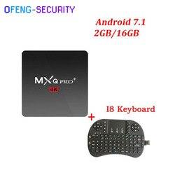 MXQPRO 4 K (S905x) met bluetooth en 5g wifi + toetsenbord voor 2 + 16g Smart tv converter Quad-core set top box Android 7.1 kodi