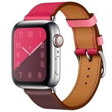 Купить с кэшбэком Fashion Genuine Leather for Apple Watch Band Modern Buckle For iwatch Watchbands 38mm