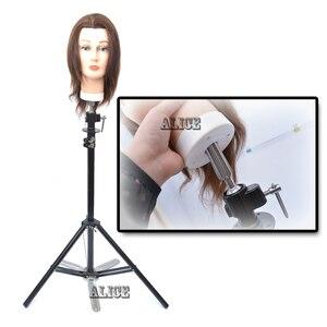 Стальная стойка-манекен для парикмахерских, регулируемая подставка для париков