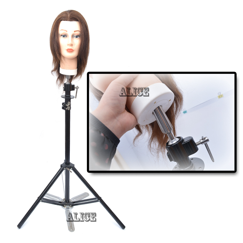 Steel Mannequin Tripod Stand Hair Salon Adjustable Tripod Wig Stand Hairdressing Training Head Clamp Holder steel mannequin tripod stand hair salon adjustable tripod wig stand hairdressing training head clamp holder