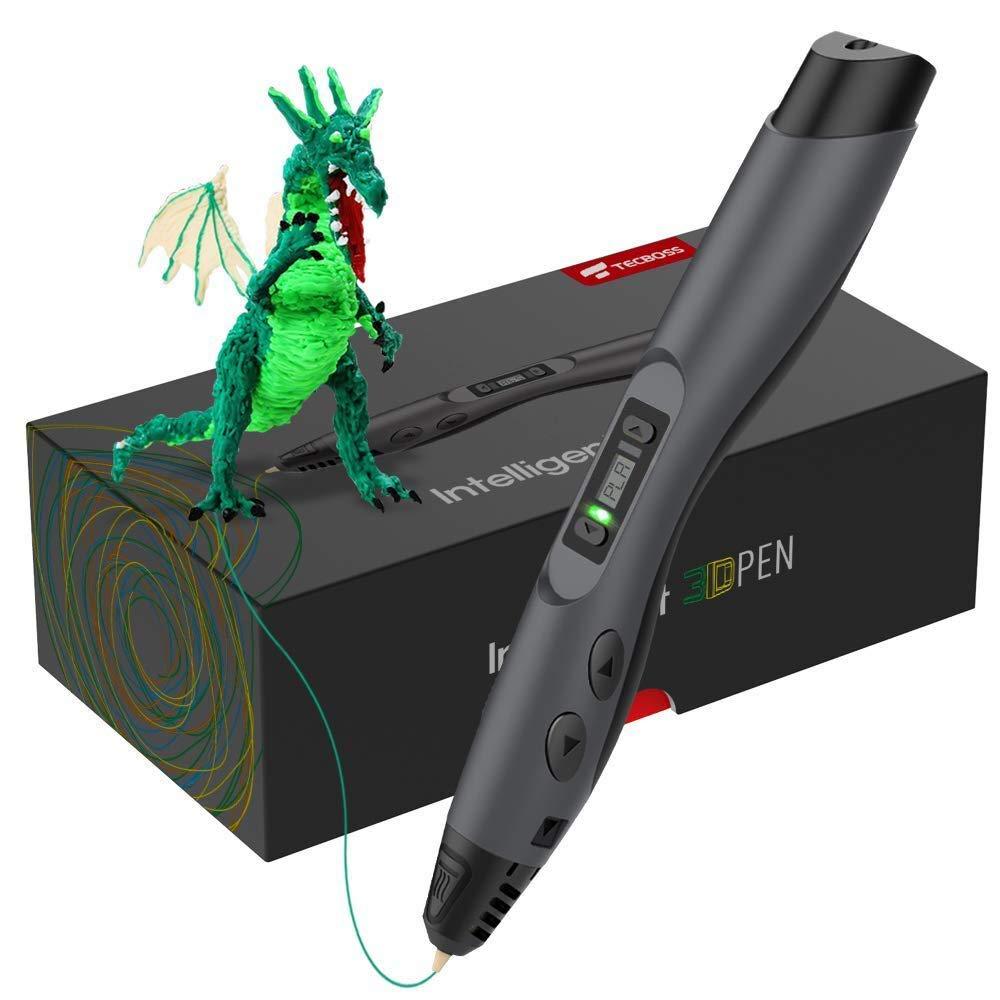 Stylo d'impression 3D amélioré avec affichage OLED contrôle de température de charge USB contrôle d'impression à 8 vitesses meilleur cadeau de vacances d'anniversaire