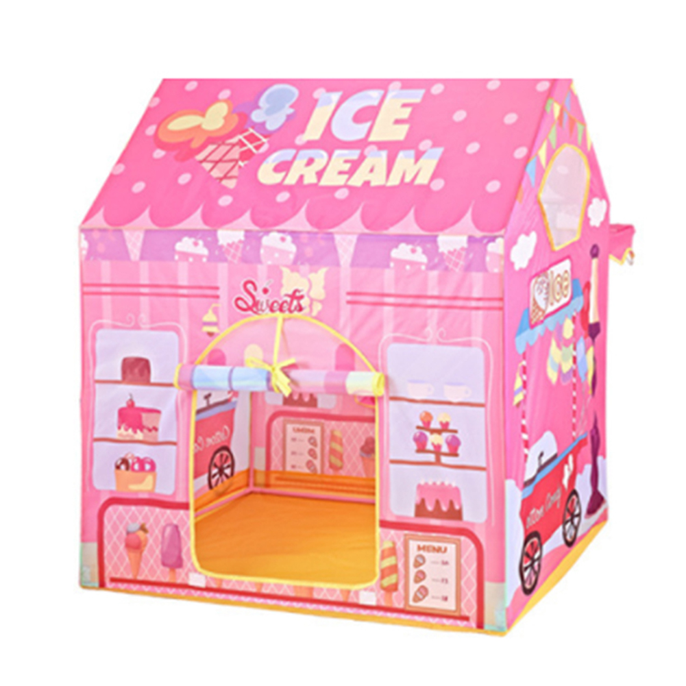 Cute Ice Cream Shop Tent Toy Eco friendly Outdoor Fun Sports Toy Games Tents Play House Toys for Children Game Playing Gifts