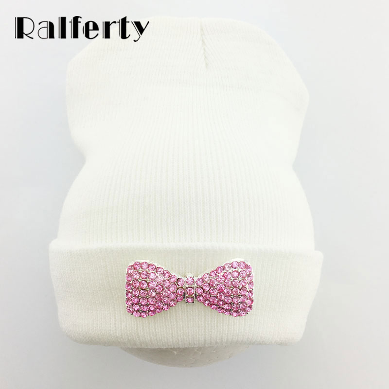 Ralferty Womens Winter Hats Feminina Skiing Bonnets Skullies Hats For Women Beanies Bonnet Bow Crystal Cap gorros mujer invierno winter hats for men gorros hombre casual male skullies and beanies bonnet men casquette cap winter bonnets en laine homme