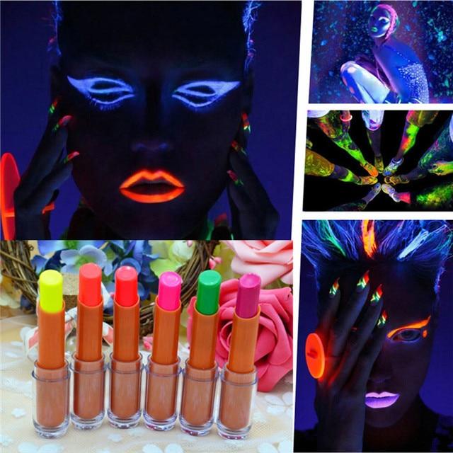 Super Cool Fluorescent Lipstick Glow In The Dark Shiny Party Luminous Lip Stick Gloss Batom Use For KTV Bar Nightclub Lip Makeup