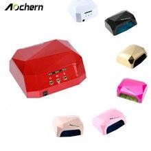 Aochern New Popular Drying Gel Polish Nail Tools 36W Nail Dryer Red Diamond Shape LED UV CCFL Light Gel Curing Lamps  #diamond
