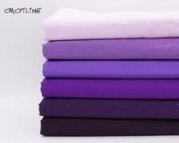 Pur coton violet tissu BRICOLAGE couture de tissu tissus tilda patchwork coton tissu maison textile tissé telas gros quartier tecido