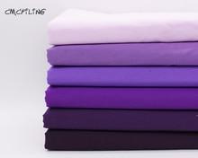 Pure purple cotton fabric DIY cloth sewing tilda fabrics patchwork cotton tissue home textile woven telas fat quarter tecido