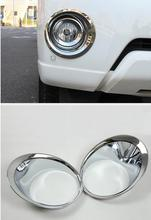 For Toyota Land Cruiser Prado FJ150 J150 2014 2015 2016 ABS Chrome Front Fog Lights Lamp Cover Trims Car Exterior Accessories