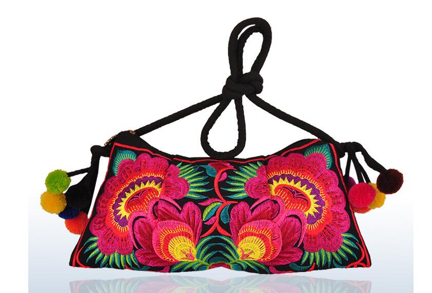 04888d63a51 New Price promotional Women Embroidered bags!Multi Floral Embroidery  Shoulder Crossbody bags National Behomian Canvas Carrier-in Shoulder Bags  from Luggage ...
