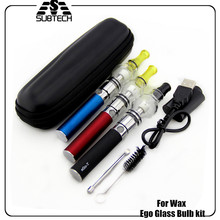 EGo Glass bulb kit Wax E cigarette 650-1100mah ego-t battery Glass Bulb atomizer for Wax electronic cigarette starter kit wax