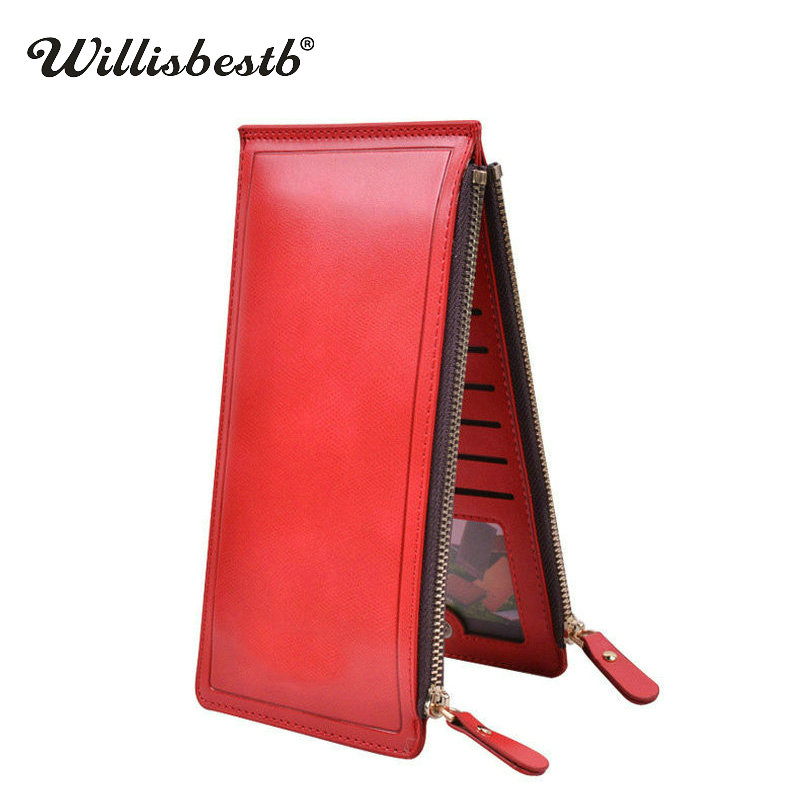2018 High Capacity Purse Women Long Zipper Wallet And Female Luxury Leather Ladies Clutch Card Holder Women's Wallets Wristlet large capacity women wallet leather card coin holder money clip long clutch phone wristlet trifold zipper cash female purse