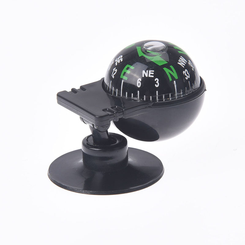 1Pc 360 Degree Rotation Waterproof Vehicle Navigation Ball Shaped Car Compass With Suction Cup 55x30x30mm