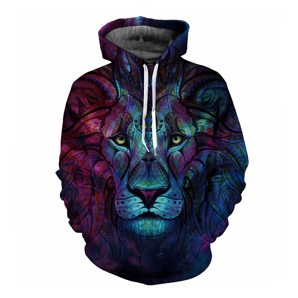 New Fashion Men/Women 3d Sweatshirts Print Paisley Flowers Lion Hoodies Autumn Winter Thin Hooded Pullovers Tops Mr.1991INC FJ-5