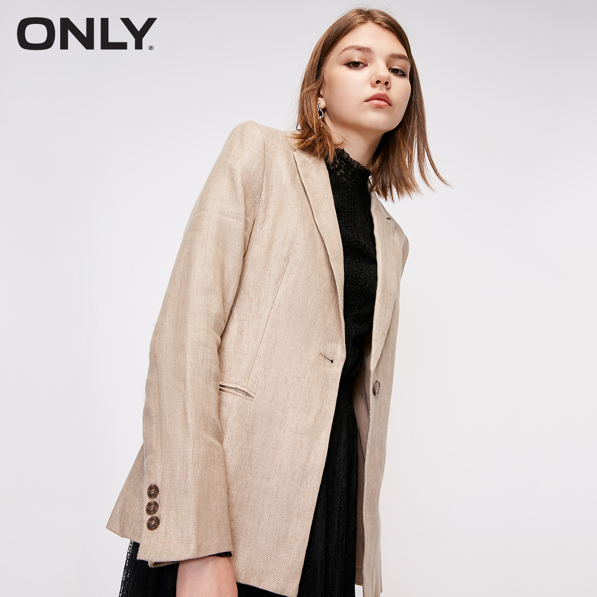 ONLY Summer New Chic Linen Slim Thin Casual Suit Jacket Women  |   118308524