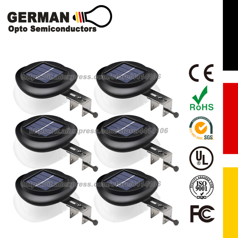 Gutter Lights Outdoor Wall Mount Deck Lighting with Dark Sensing Auto On Off for for Eaves Garden Landscape Walkway in Solar Lamps from Lights Lighting