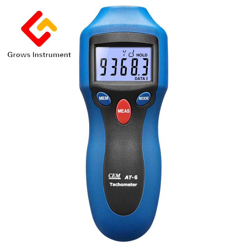 AT6 Handheld Digital Tachometer Analyzer Motor Wind Wheel Tire Tachometer High Sensitive Speed Instrument laser type tachometer portable digital tachometer