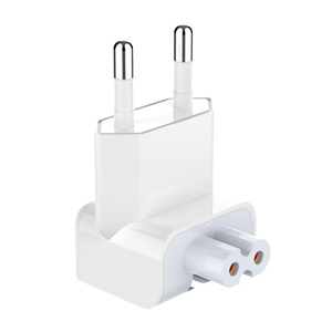 Image 1 - Euro Pin Plug AC Duck Head Power Charger EU Wall AC Plug Adapter For Apple MacBook Pro Air iPad Electrical Europa Duck Head