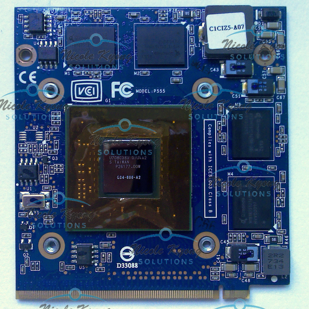 C90 C90s C90P P555 Geforce 8600M GT G84 600 A2 512MB MXM II VGA Card Video card est for a c e r aspire 5920g 5920 5520g 5520 mxm ii ddr2 1gb graphics vga video card replace n v i d i a geforce 9650m gt