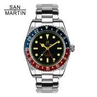 San Martin Men Vintage Watch Automatic Diving Watch Stainlss Steel Watch 200m Water Resistant Sapphire Circle Retro Wristwatch