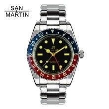 Сан Мартин для мужчин Винтаж часы автоматический Дайвинг часы нержавеющая сталь часы 200 м водостойкий Сапфир круг часы в ретро-стиле